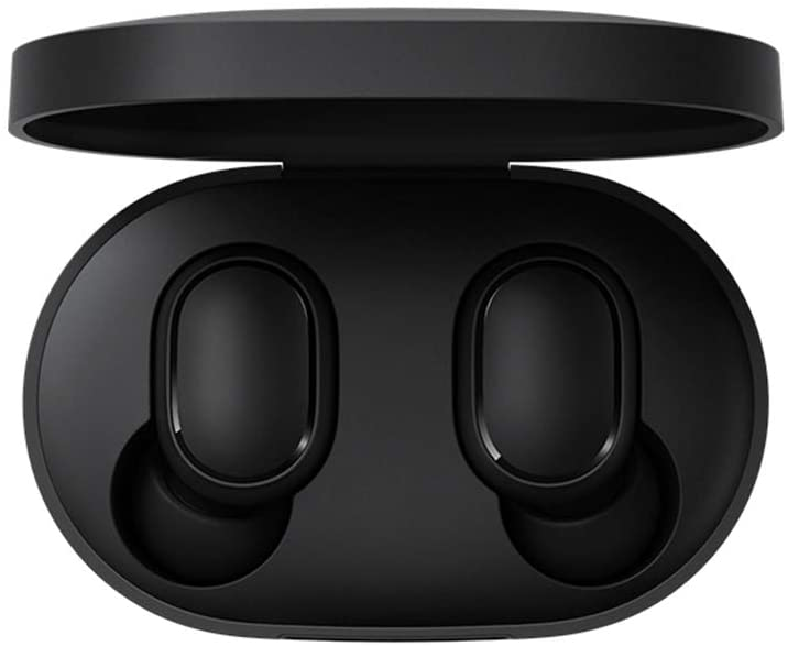 Xiaomi Mi True Wireless Earbuds Basic, TWS Wireless Bluetooth 5.0 Headphones Charging Box True Stereo Sound Wireless Bluetooth Headphones with Microphone Hands-Free Headphones AI Control black