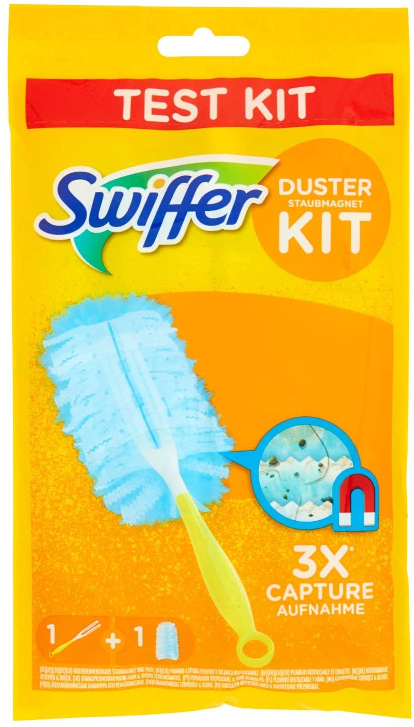 Swiffer Duster Kit, 1 Manico e 1 Panno