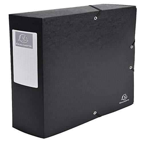 Exacompta 50831E Scatola archivio boxEXABOX Dorso 8cm nero