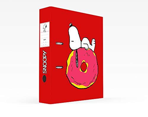 Erik® - Raccoglitore a leva per documenti Snoopy, formato protocollo, cartone, dorso 7 cm, licenza ufficiale
