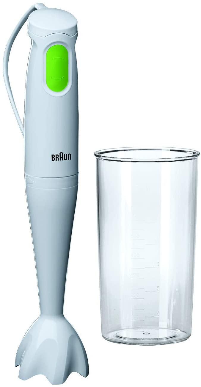 Braun Multiquick 1 mq 100 MQ100, 450 W, 0 Decibel, Plastica, Bianco