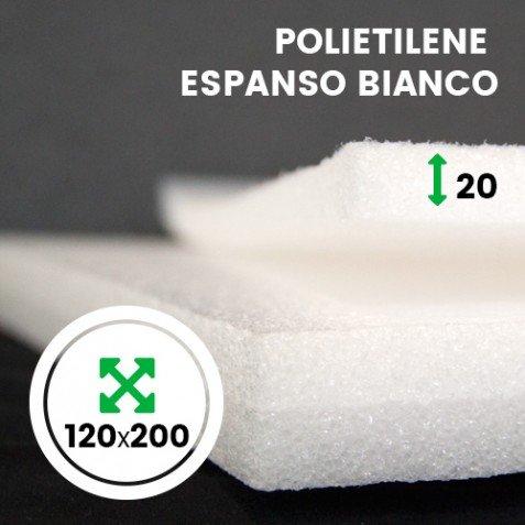 IMBALLAGGIPER LAS021A LASTRA ESPANSO BIANCO PER IMBOTTIRE MISURA 120 X 200 CM SPESSORE 20 MM