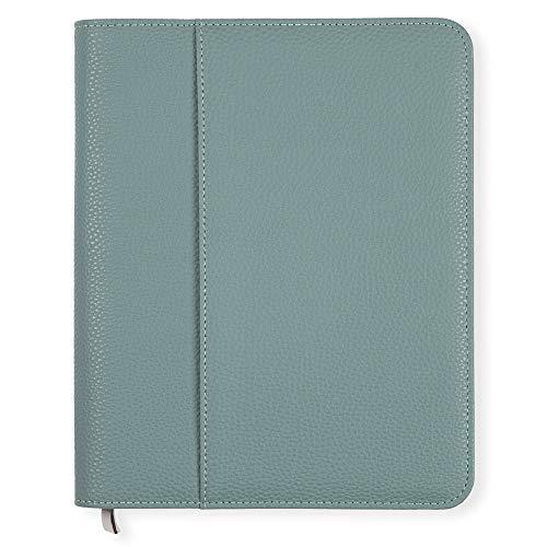 Porta agenda Luxury Boxclever Press in ecopelle testurizzata di alta qualità con zip. Tasche extra per i documenti. Ideale per planner settimanale, agenda 2020 2021 o journal. (Blu tempesta)