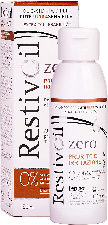 RestivOil Zero Prurito e Irritazione Olio-Shampoo Delicato per Cute Ultra Sensibile, Adatto a Tutti i Tipi di Capelli, senza Agenti Schiumogeni e Aggressivi, 150 ml
