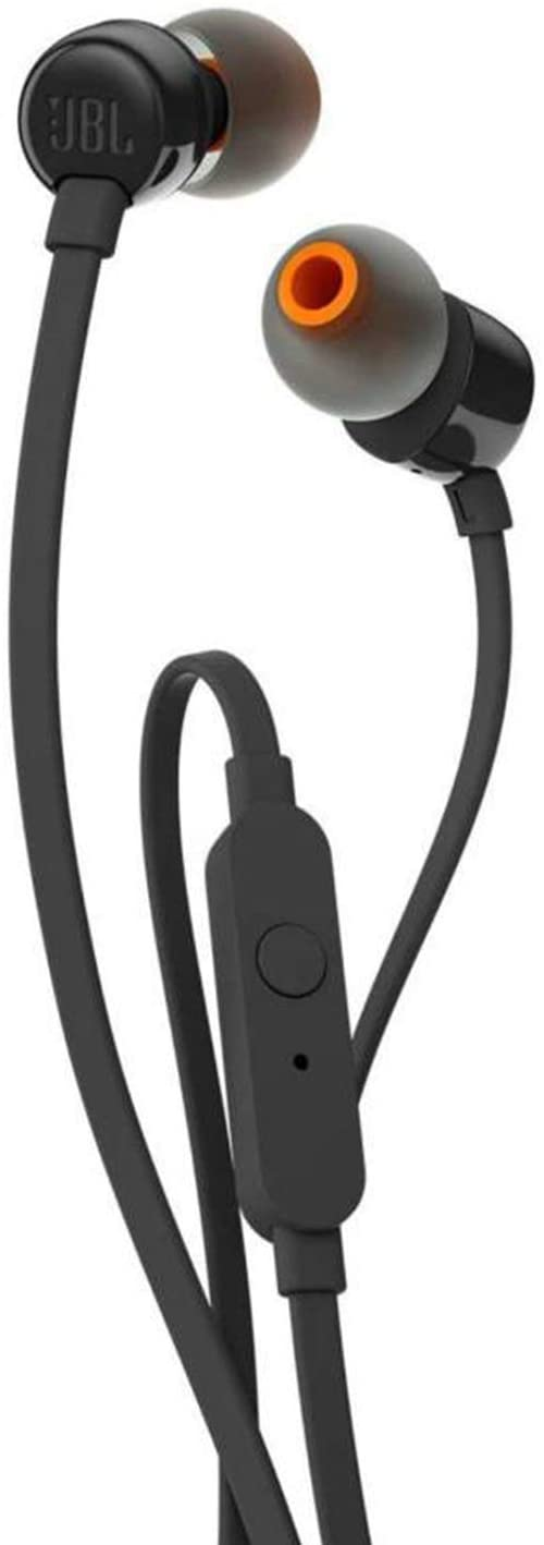 JBL T110 Intra-Auricolari con Comando e Microfono Universale, Nero