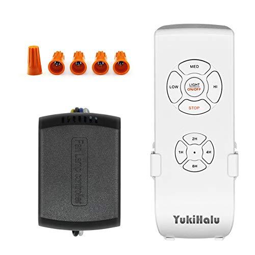 YUKIHALU - Kit di Telecomando Universale per Ventilatore da Soffitto, Super Piccole Dimensioni, con 3 Impostazioni di Velocità e Controllo Della Luce, Telecomando Wireless con Opzione Silenziatore