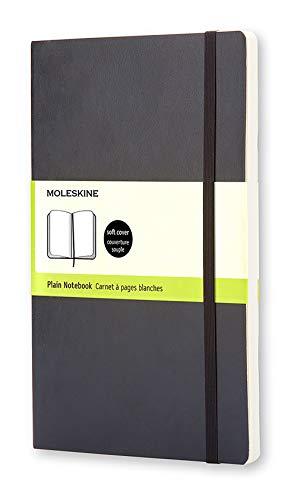 Moleskine Notebook Classic Copertina Morbida - Quaderno a Pagine Bianche, Large, Nero