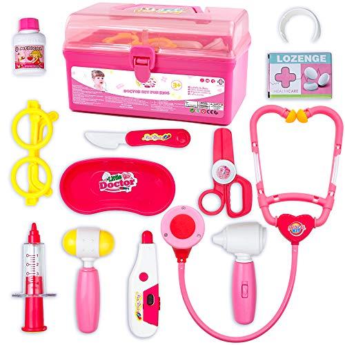 J.X Valigetta Dottore Bambini Giocattoli Bambino Kit Dottore Medico con Luci e Suono Gioco di Ruolo per Educativo Bambini 3 Anni 4 Anni 5 Anni