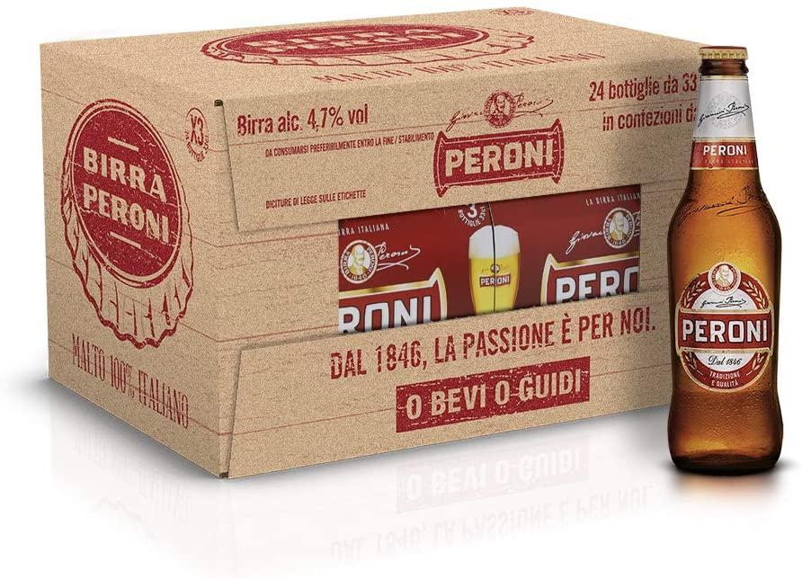 Birra Peroni - Cassa da 24 x 33 cl (7.92 litri)