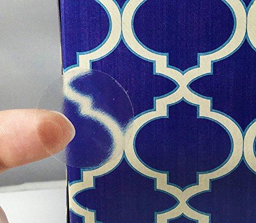 Etichette Circolari Chiare, 25 mm 1 Pollice Adesivi di Sigillo Trasparenti 500 Pacchetto