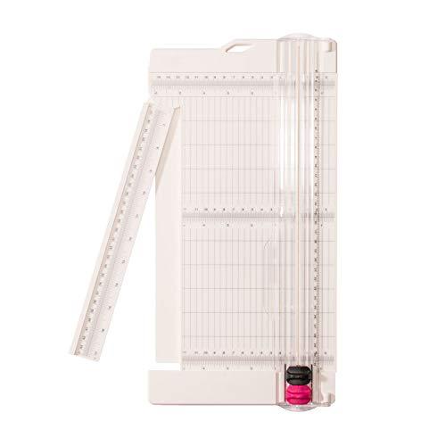 """Vaessen Creative Taglierina e Cordonatrice 6"""" per Scrapbooking, Biglietti e Altre Creazioni con la Carta, Bianco, 30.5 x 15.2 x 2 cm"""