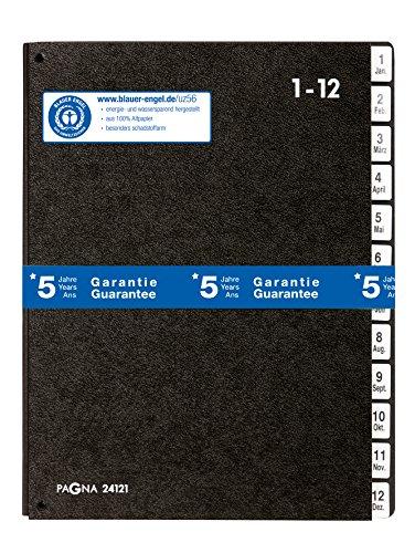 Pagna, quaderno classificatore, Classic (cartellina per leggio, 12scomparti, 1–12/Gen-Dic) nero