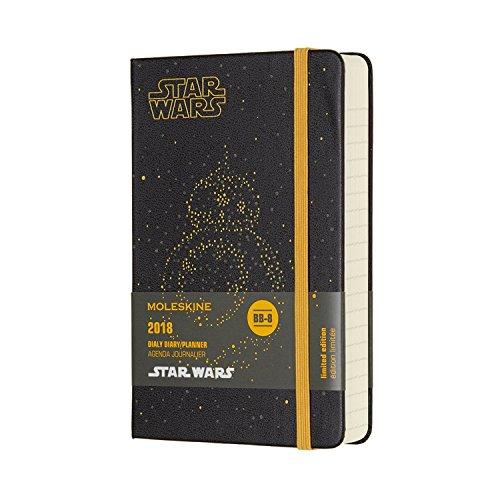 Moleskine 2018 Agenda Giornaliera BB8 Star Wars, 12 Mesi, Tascabile