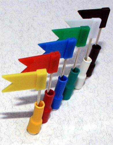 Plan–Carte//Orga–Lavagna/MEMO–/–/organizzativi magnetica/Magneti al neodimio con 6bandierine per presentazione/visualizzazione, Multicolore, 6pezzi