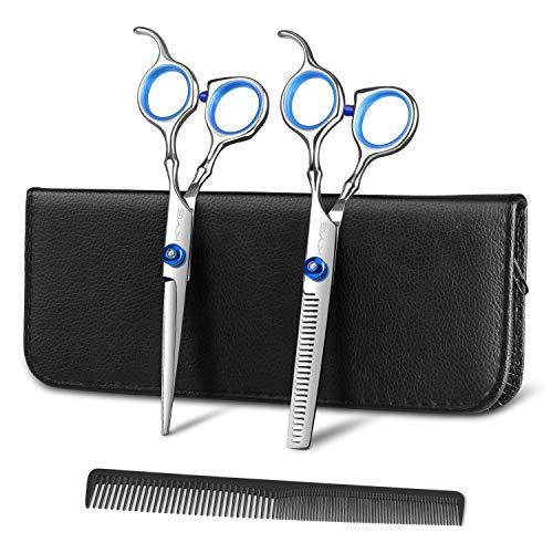 Set di Forbici Professionali da Parrucchiere in Acciaio Inossidabile Set Forbici per Capelli Barbiere, Forbici per Taglio Capelli con Custodia Forbici Foltire