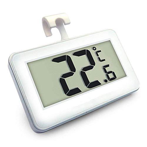 Termometri per Frigoriferi Digitale Termometro da Frigo Mini Impermeabile Congelatore Termometro con Gancio LCD Display Gamma -20℃ a 60℃ Con Display LCD di Facile Lettura