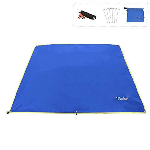 TRIWONDER4-6 Persone Telo Parasole da Campeggio, 150x220 / 180x220 / 240x220 cm Telo Impermeabile per Tenda Amaca, Telo Tarp da Spiaggia Montagna (S-150x220cm, Blu)
