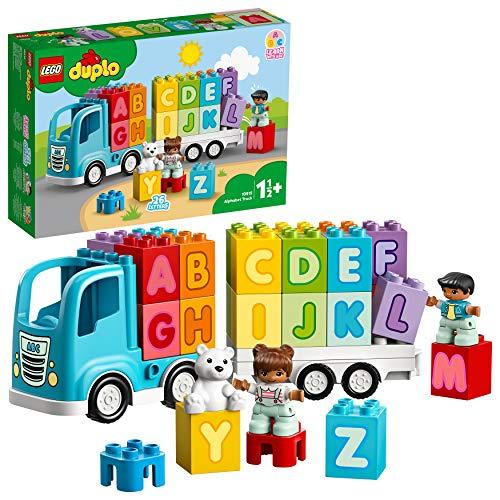 LEGO - DUPLO My First Camion dell'Alfabeto, con 2 Personaggi e un OrSetto, Gioco e Idea Regalo per Bambini +1 Anno e Mezzo, 10915