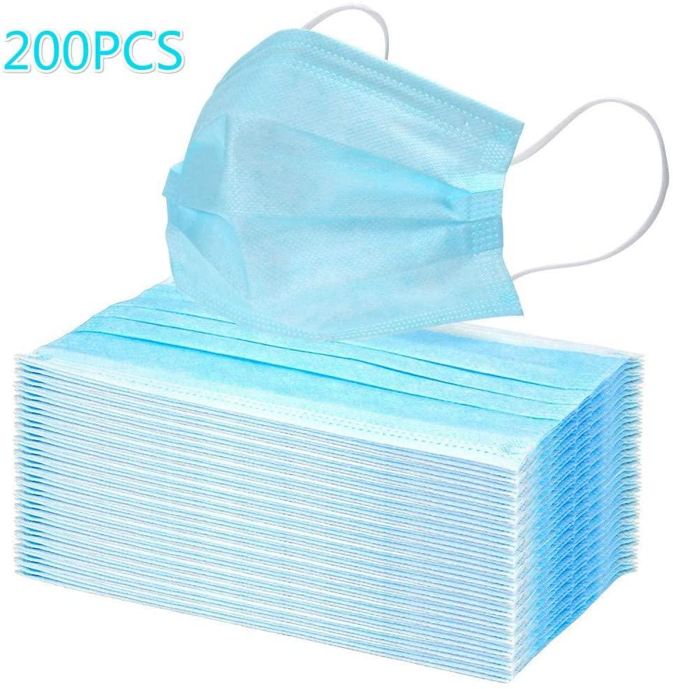 Jiuzun60/100 / 200pcs parapolvere, sacchetto sigillato standard, protezione sanitaria, parapolvere a tre strati con gancio per l'orecchio, 20 pezzi per sacchetto