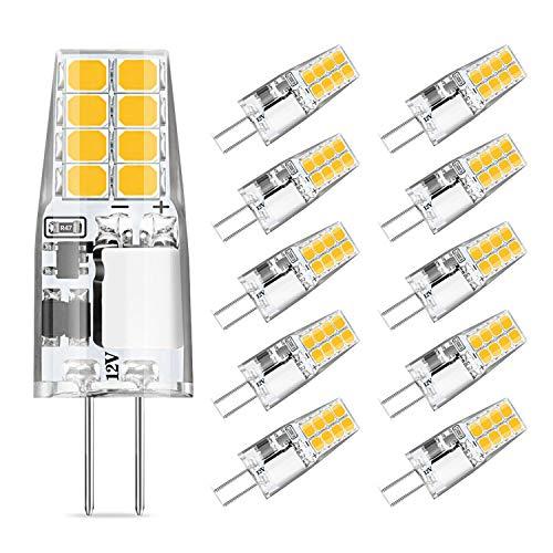 Eco.Luma Lampadine a LED G4 3W, Non Dimmerabile, Equivalente Alogeno 20W-30W, Luce Bianca Calda 3000K, AC/DC12V, Nessun Sfarfallio, Confezione da 10