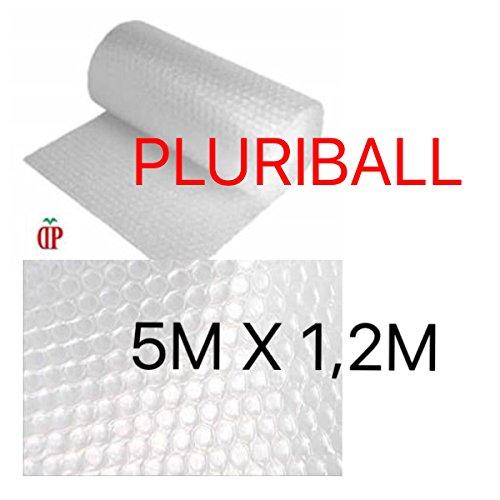 PLURIBALL PLASTICA PER IMBOTTITURA CON BOLLE ARIA IDEALE PER IMBALLAGGIO e TRASLOCO 5 Metri lineari per 1,2 Metro di altezza (6 Metri quadri equivalenti)