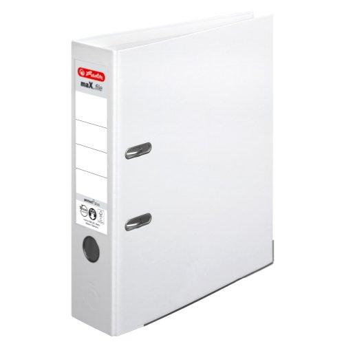 herlitz Ordner maX.file protect plus, Rückenbr.: 80 mm, weiß