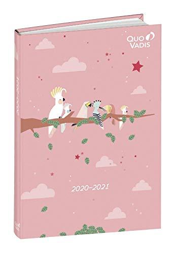 Quo Vadis 1281555Q DIARIO SCOLASTICO Anno 2020-2021 EUROTEXTAGENDA Multilingua Animascot uccelli -12x17cm-Giornaliera 12 MESI AGOSTO-LUGLIO