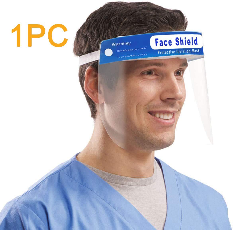 Visiera Protettivo,Plastica Regolabile visiera protettiva trasparente medici per Impedire Saliva,Gocciolina et (1)