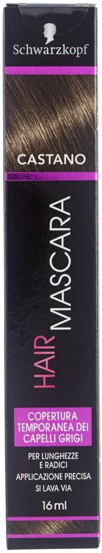Schwarzkopf Hair Mascara, Mascara temporaneo per Capelli, Castano, 16 ml