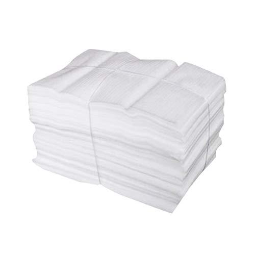 NUOBESTY - Sacchetto in schiuma espansa per un imballaggio sicuro, utile per proteggere stoviglie in vetro e porcellana, mobili, confezione per trasloco (50 pezzi da 25 x 30 cm)