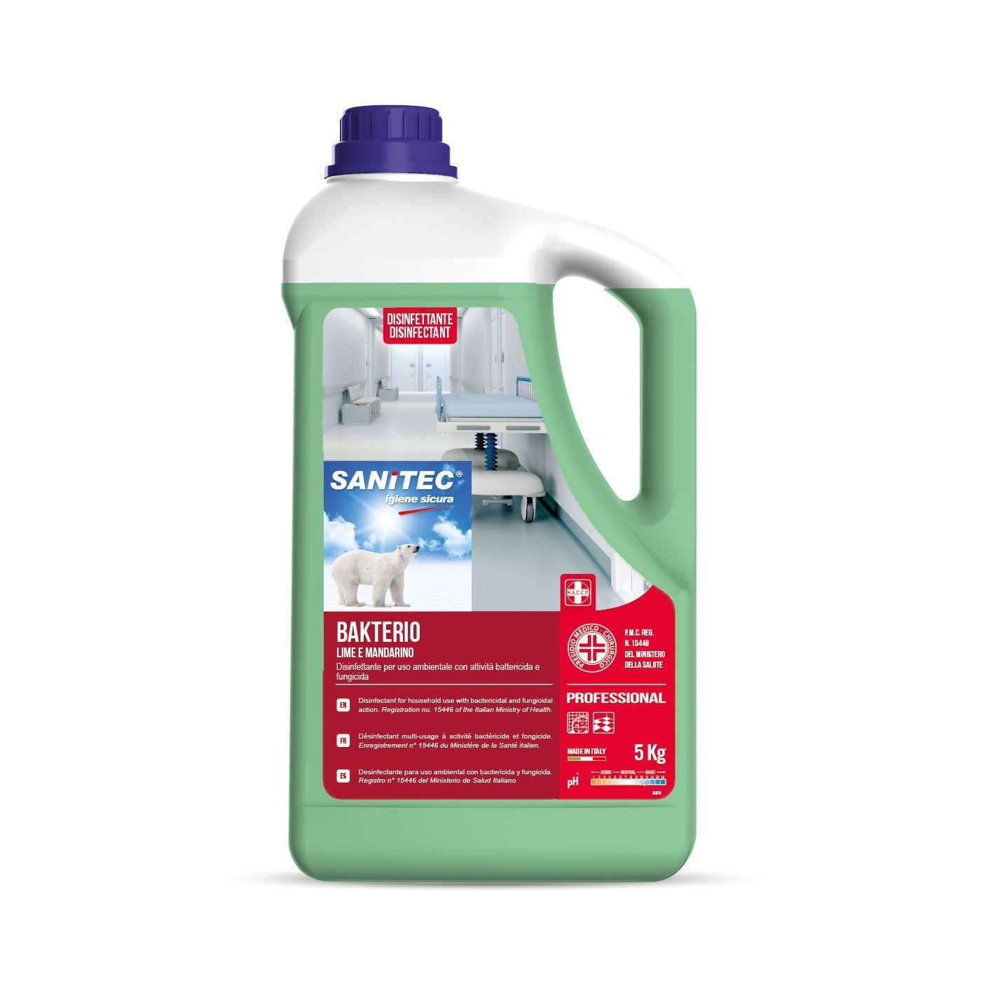 Bakterio - Disinfettante per Ambienti, 5 kg - Lime e Mandarino