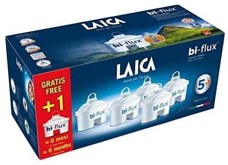 Laica F6S Cartuccia Filtrante Bi-Flux, 6 Cartucce