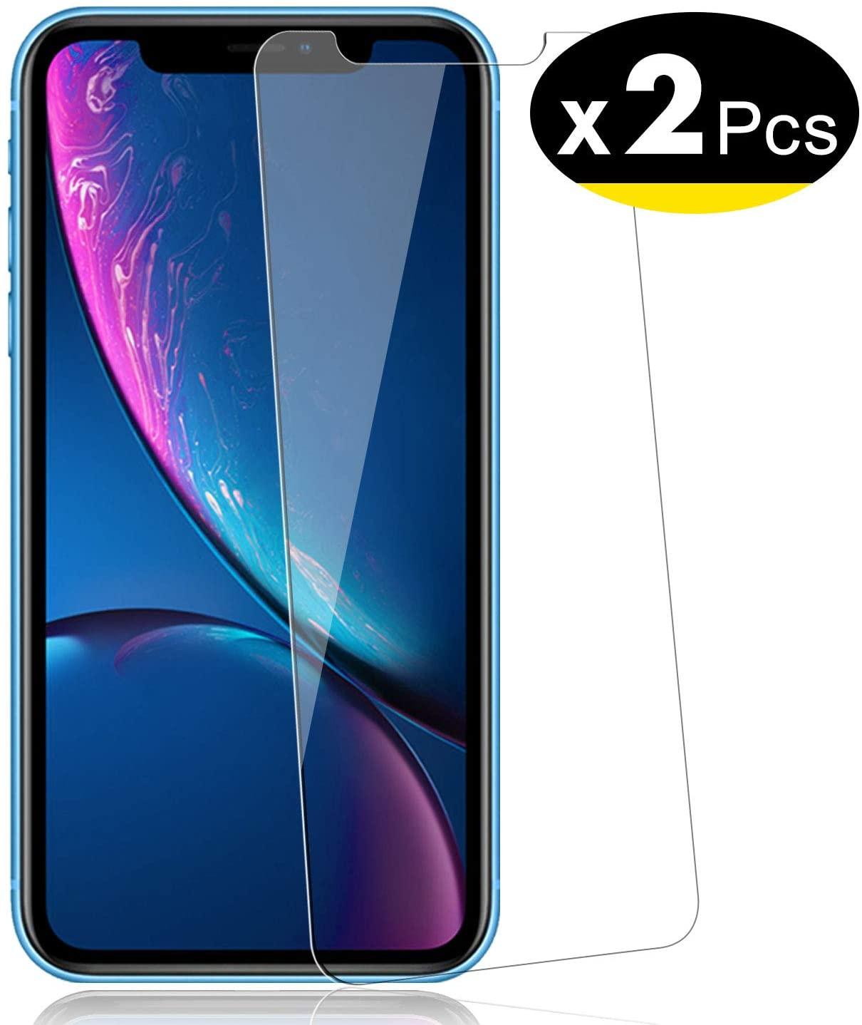 NEW'C Pacco da 2 Pezzi, Pellicola Protettiva in Vetro Temperato per iPhone 11, iPhone XR (6.1