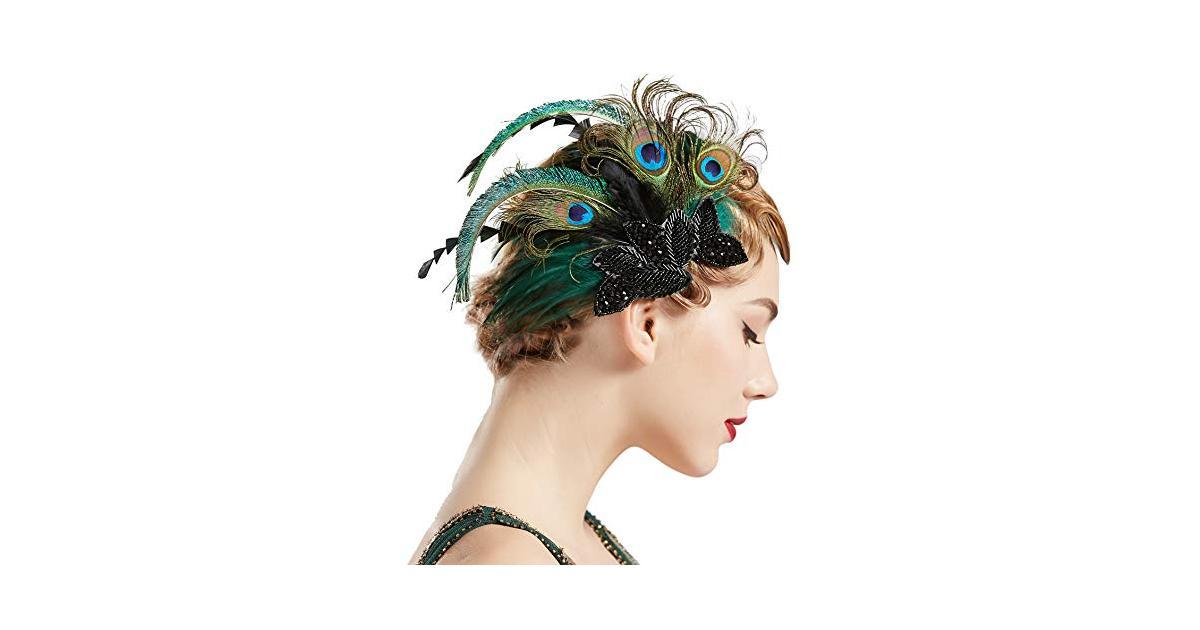 Coucoland 1920s - Fermaglio per capelli da donna con piume ...